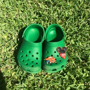 Green gently used Crocs - smoke free home
